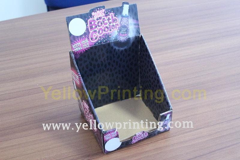 Corrugated paper display box printing