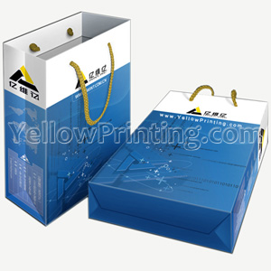 Shopping paper bag printing