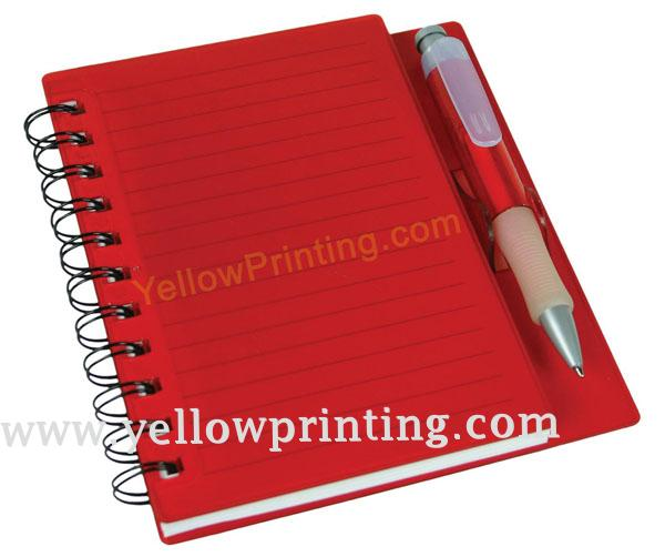 Coil bind note book with ball pen