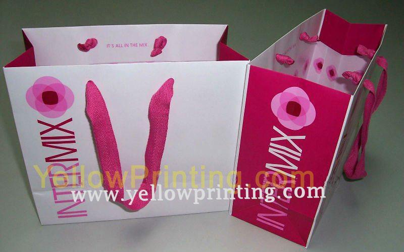 Logo paper bag printing