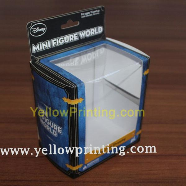 Paper gift box with clear pvc window