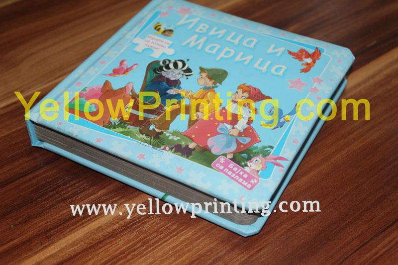Children paper board puzzle book printing on demand