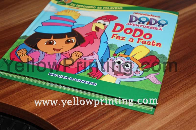 Full colors printing pull tab book for children