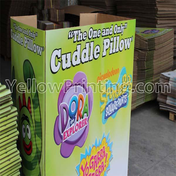 Large size cuddle pillow corrugated PDQ box