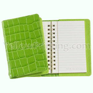 Leather Fabric Cover Notebook Printing