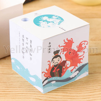 Paper Note Cube for Advertisement