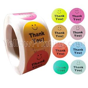 Round Shape Sticker Label Printing