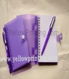 Coil notebook with ball pen