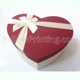 Heart Shaped Paper Gift box With Ribbon Design