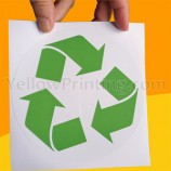 Recycle Logo Sticker Printing