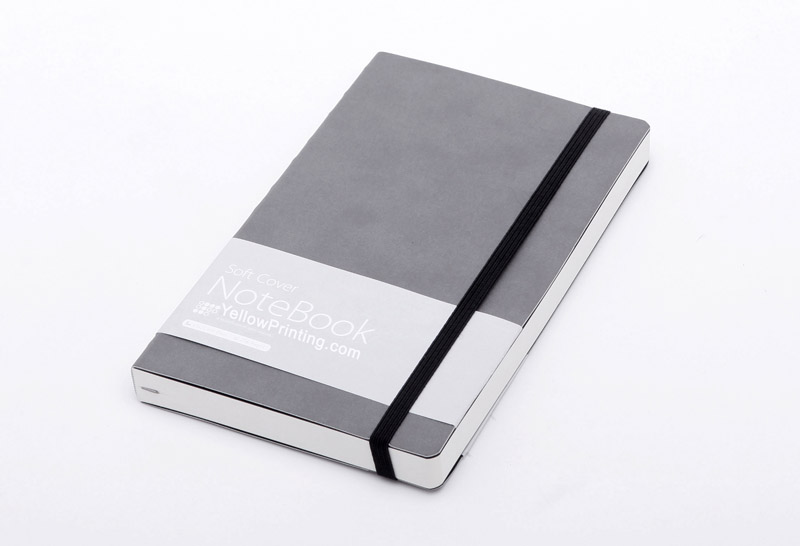 PU leather notebook with elastic band