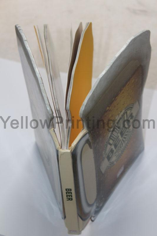 beer cup shape paper book