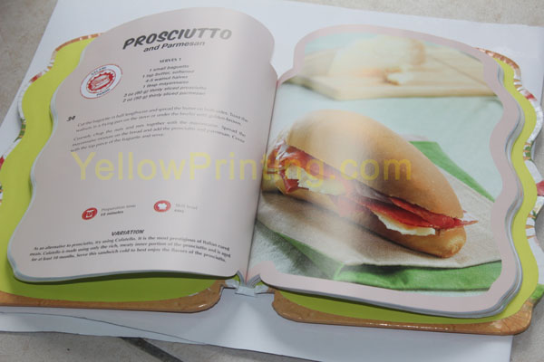 die cutting bread shape book printing