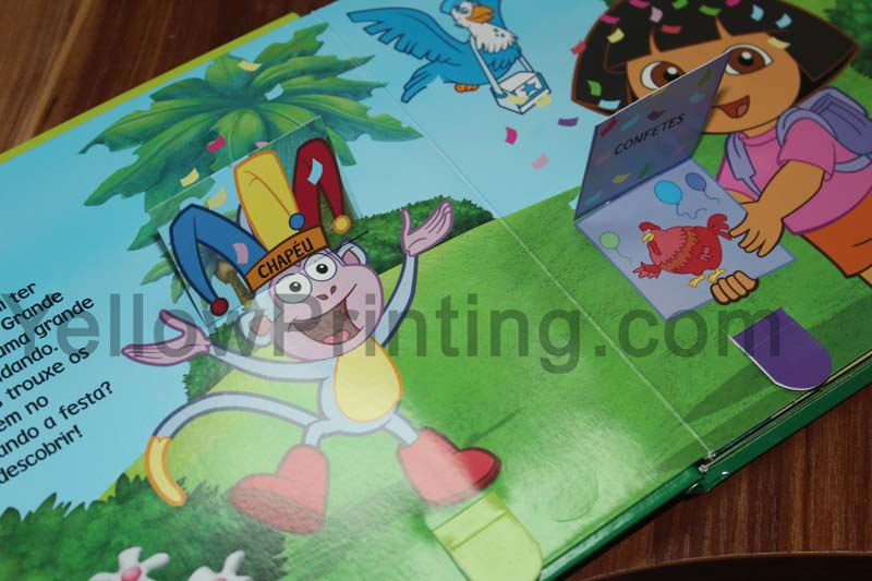 Pull tab book for kids