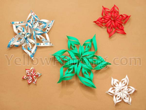 Origamic Paper Snowflake