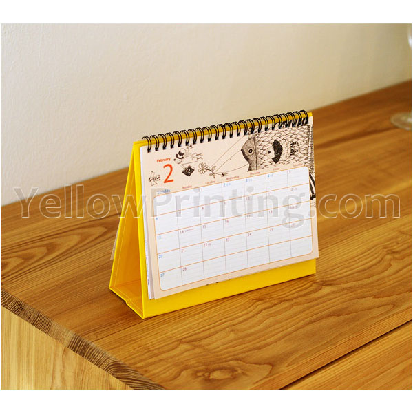 desk calendar printing with company logo