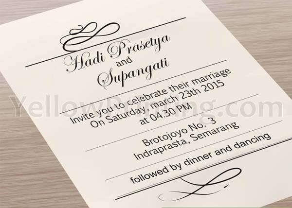 How to print your wedding invitation cards step by step yellow invitation card printing stopboris Choice Image