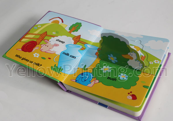 cheap color printing children learning board book