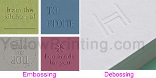embossing & debossing logo