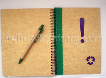 kraft paper blank notebook