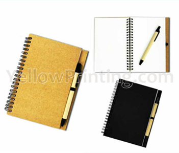 kraft paper notebook printing with pen