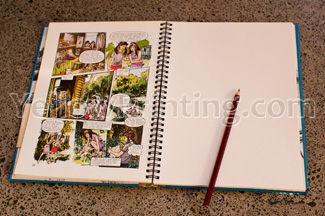 spiral notebook with dividers