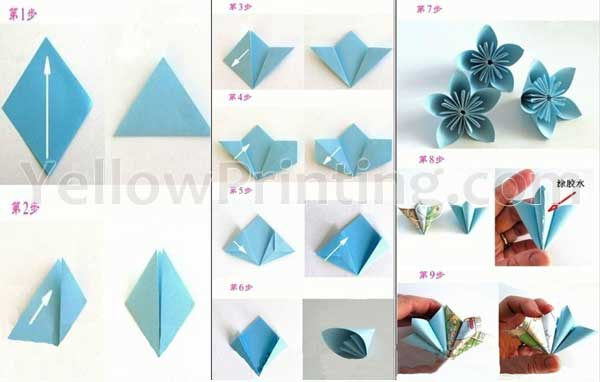 Creative Origami Paper Craft Folding Instructions