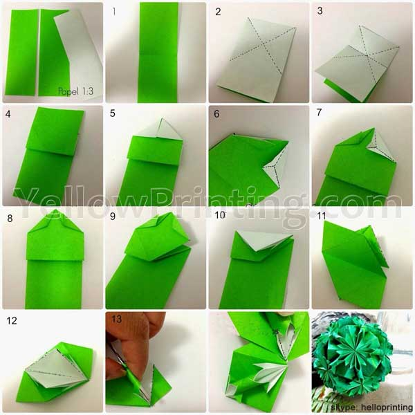 Simple Origami Folding Instructions