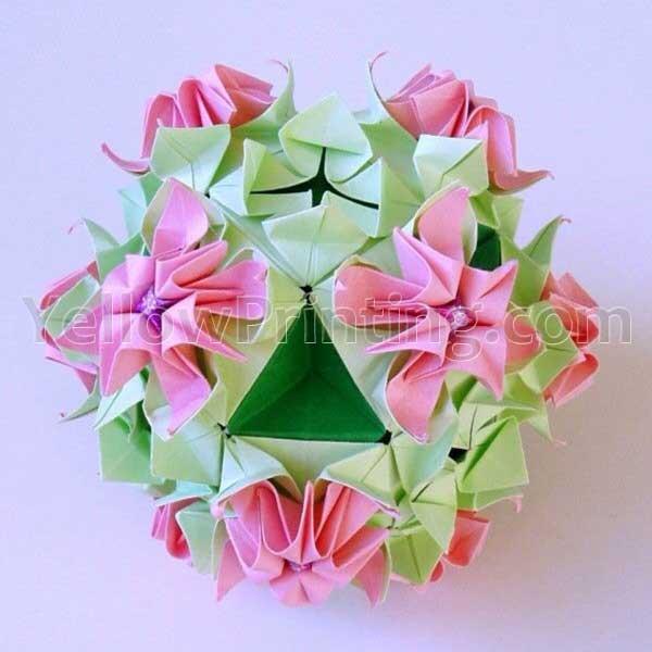paper origami flower design