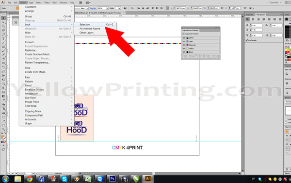 Prepare Illustrator Print Ready PDF Files for Offset Printing Step 10