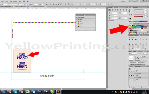 Prepare Illustrator Print Ready PDF Files for Offset Printing Step 11