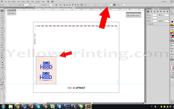 Prepare Illustrator Print Ready PDF Files for Offset Printing Step 12