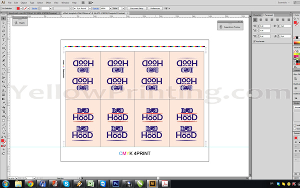 Prepare Illustrator Print Ready PDF Files for Offset Printing Step 13