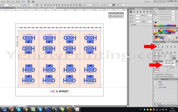 Prepare Illustrator Print Ready PDF Files for Offset Printing Step 14