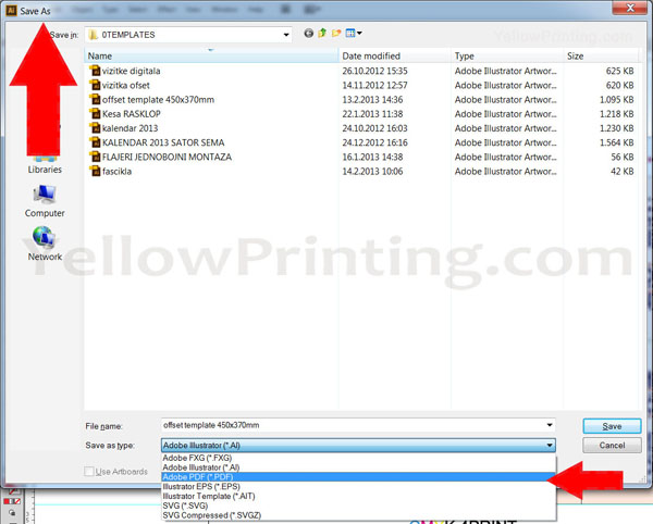 Prepare Illustrator Print Ready PDF Files for Offset Printing Step 15