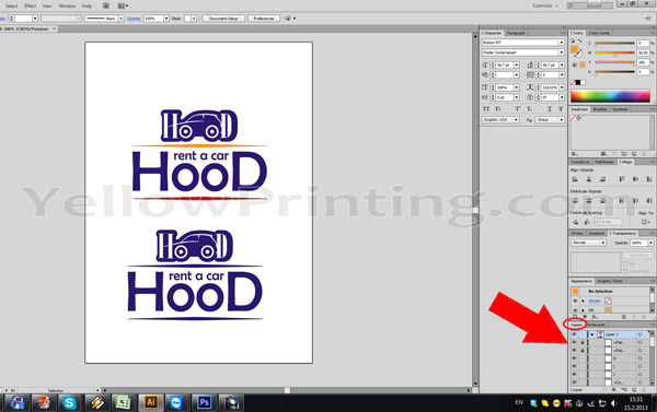 Prepare Illustrator Print Ready PDF Files for Offset Printing Step 2