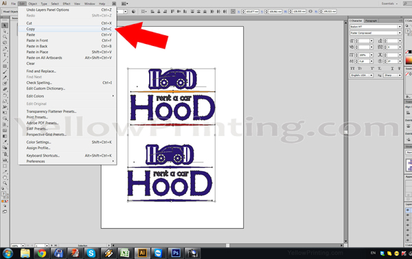 Prepare Illustrator Print Ready PDF Files for Offset Printing Step 3