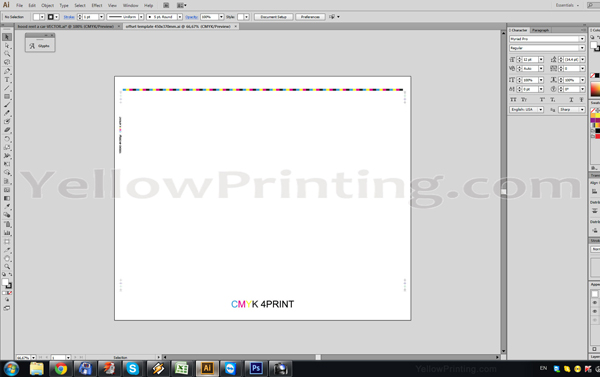 Prepare Illustrator Print Ready PDF Files for Offset Printing Step 4