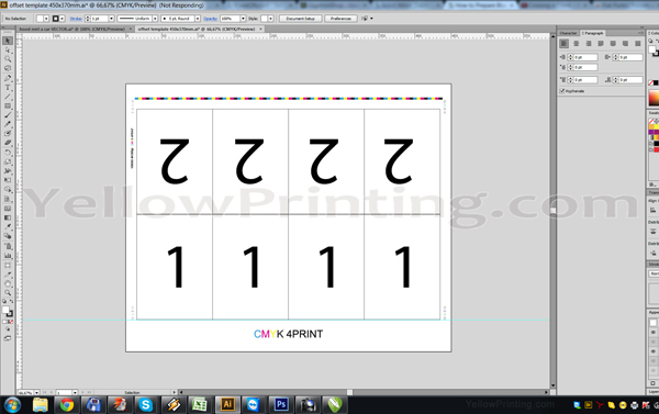 Prepare Illustrator Print Ready PDF Files for Offset Printing Step