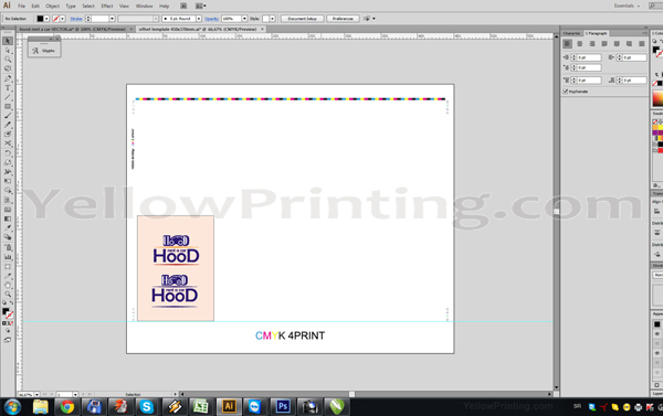 Prepare Illustrator Print Ready PDF Files for Offset Printing Step 6