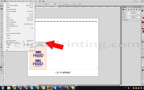 Prepare Illustrator Print Ready PDF Files for Offset Printing Step 7
