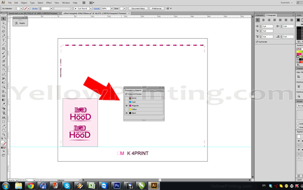 Prepare Illustrator Print Ready PDF Files for Offset Printing Step 8