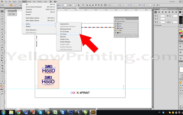 Prepare Illustrator Print Ready PDF Files for Offset Printing Step 9