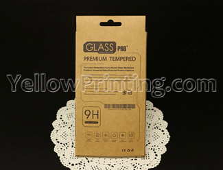 luxury Kraft Paper Universal Retail Package Packaging Box for cell phone