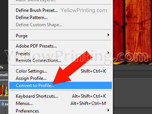 Convert an RGB File to a CMYK File in Photoshop Step 2